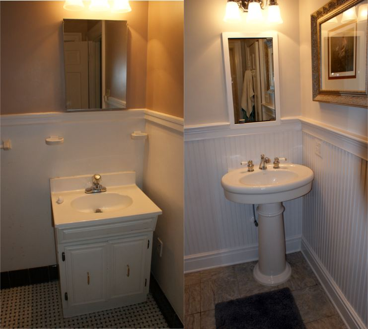 Before and after pic of sink in Goldsboro