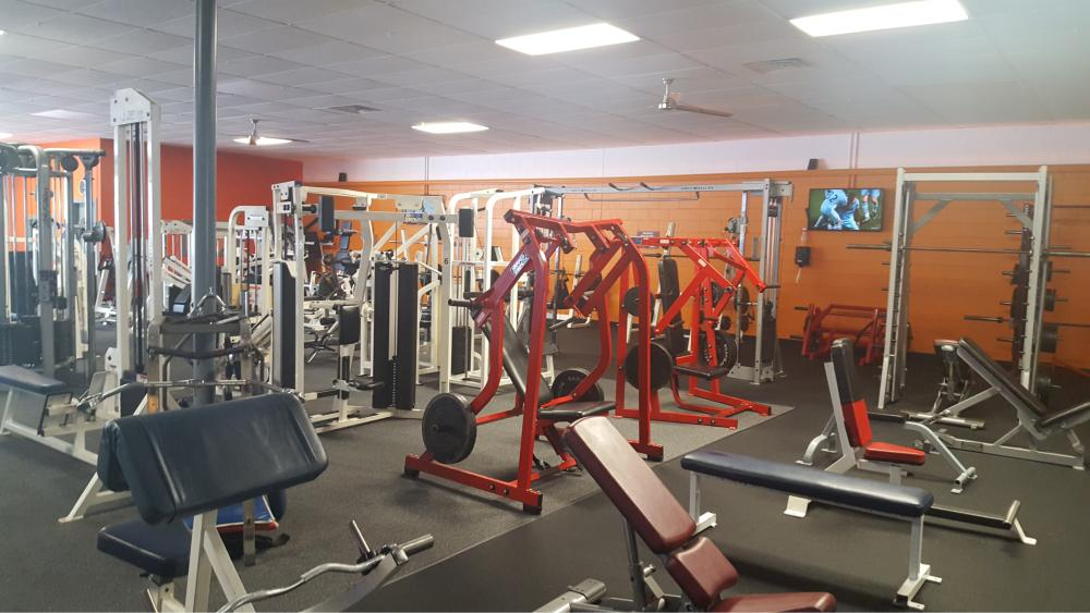 Gym with television screen
