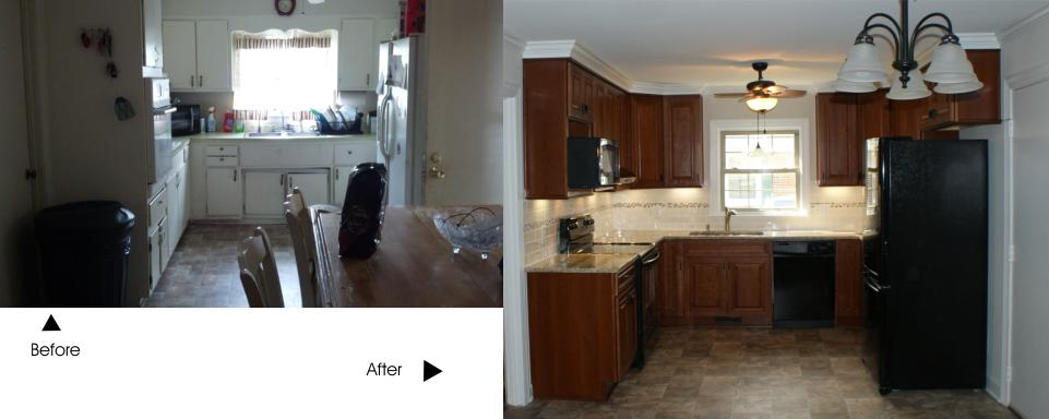 kitchen before and after rennovation