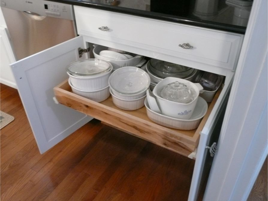 Roll out kitchen cabinet shelf in Raleigh