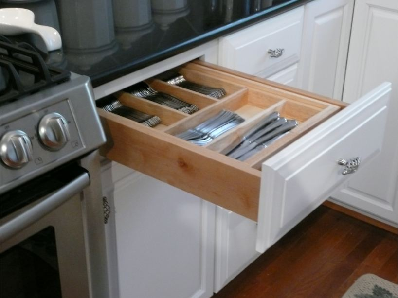 Dovetailed maple silverware drawer